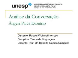 Análise da Conversação - teoriadalinguagem