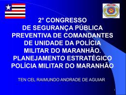 planejamento estratégico - Polícia Militar do Maranhão.