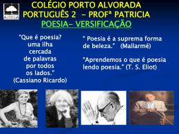 Versificação - Colégio Porto Alvorada