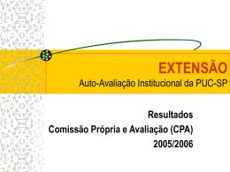 AutoAvaliação Extensão - PUC-SP