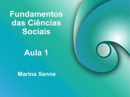 Fundamentos das Ciências Sociais