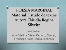 POESIA MARGINAL - Curso e Colégio Ideologia