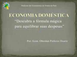 Palestra de Economia Doméstica