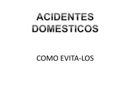 acidentes domesticos