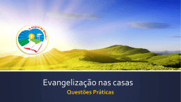 Evangelização nas casas - Arquidiocese em Missão