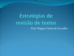 Estratégias de revisão de textos