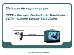 sistemas de segurança por CFTV