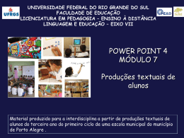 Power Point 4 - pead.faced.ufrgs.br