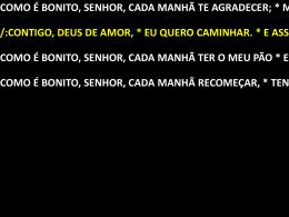 CANTOS MISSA PADRAO