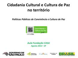 Cidadania cultural e cultura de paz no território