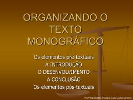 Direito - Roteiro de apresentação da monografia