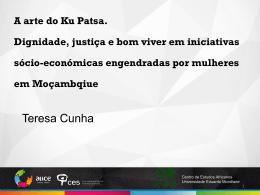 A arte do Ku Patsa. Dignidade, justiça e bom viver em iniciativas