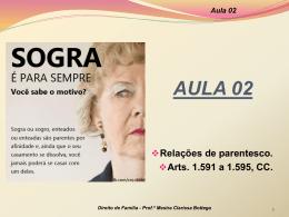 Aula 02 - Professora Mestra Clarissa Bottega