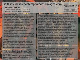 WITKACY NOSSO CONTEMPORÂNEO: DIÁLOGOS COM O IN YER
