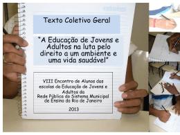 Texto coletivo geral do Encontro de Alunos