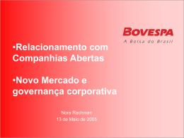 companhias abertas e governança corporativa