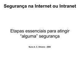 Segurança na Internet e Intranet (Apresentação)