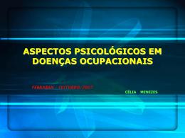 ASPECTOS PSICOLÓGICOS EM DOENÇAS OCUPACIONAIS A