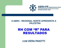 """RH com """"R"""" para Resultados - ABRH"""