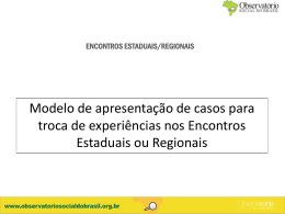 encontros estaduais/regionais - Observatório Social do Brasil