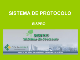 Manual do sistema de Protocolo