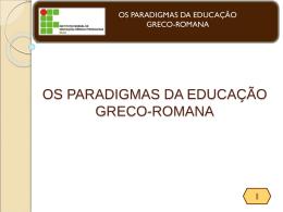 os paradigmas da educação greco-romana