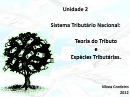 Unidade 2 Sistema Tributário Nacional: Teoria do Tributo e