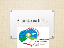 AM – Oficina 2 – A missão na bíblia