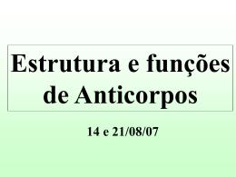 Estrutura dos Isotipos de Anticorpos