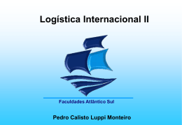 Logística Internacional Unidade III