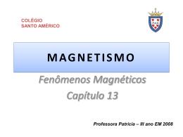 MAGNETISMO - Colégio Santo Américo