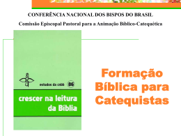 Apresentação CRESCER NA LEITURA DA BÍBLIA datashow