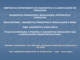 Theodor Lowenkron - Associação Brasileira de Psiquiatria