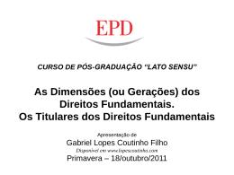 de direitos fundamentais. - Gabriel Lopes Coutinho Filho