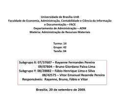 Universidade de Brasília-UnB Faculdade de Economia