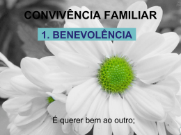 CONVIVÊNCIA FAMILIAR
