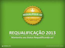 COMO REQUALIFICAR-SE? Supervisor