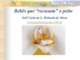 """Bebês que """"recusam"""" o peito"""