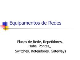 Equipamentos de Redes - Faculdade Gama e Souza