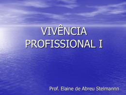 VIVÊNCIA PROFISSIONAL I - Universidade Castelo Branco