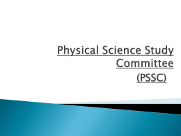 Physical Science Study Committee