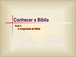 Bíblia 03 -Integridade