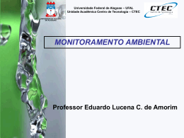 MONITORAMENTO AMBIENTAL - Universidade Federal de Alagoas