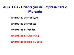 Mercadologia aulas 3 e 4