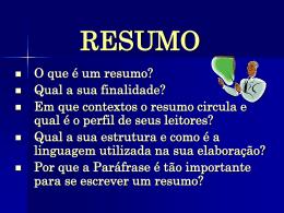 resumo - Faculdade Unicampo
