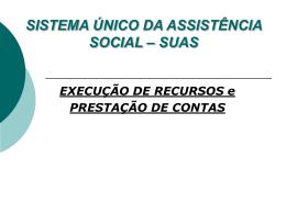 Financiamento no SUAS - Secretaria do Trabalho e