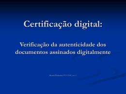 Certificação digital: verificação da autenticidade dos documentos