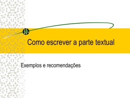 Parte textual do protocolo/como escrever