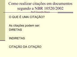 Como realizar citações em documentos segundo a NBR 10520