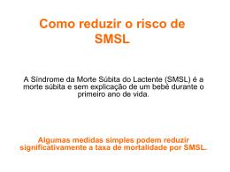 Como reduzir o risco de SMSL - Sociedade Portuguesa de Pediatria